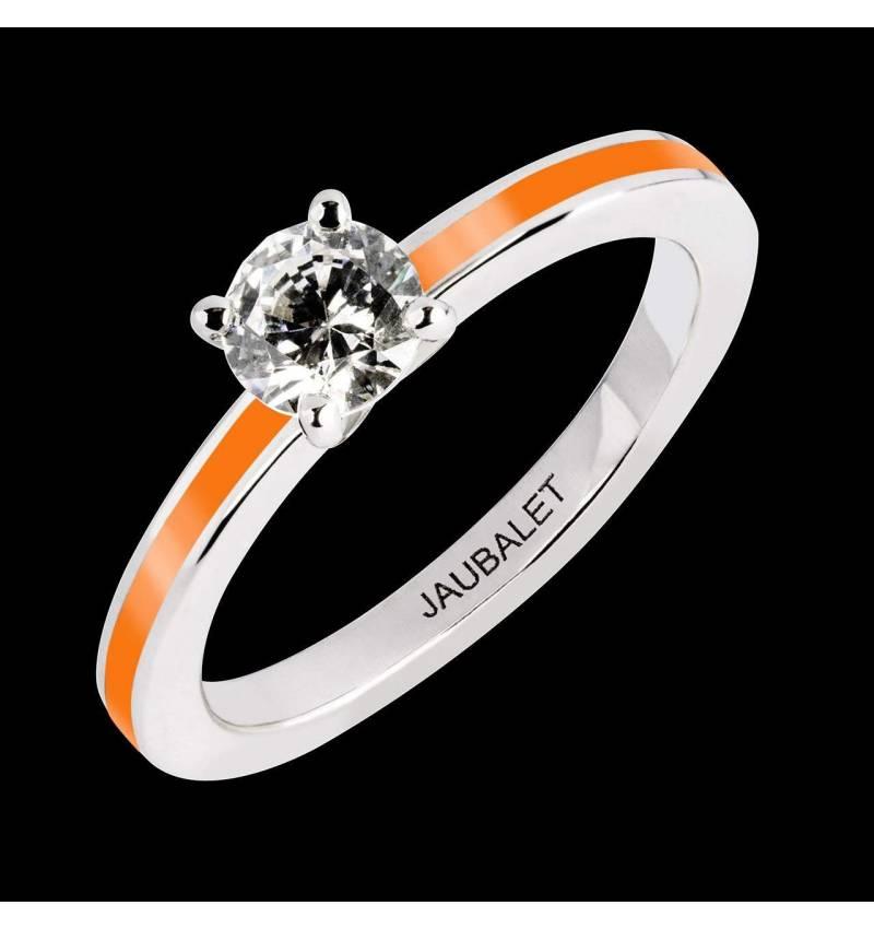 Verlobungsring mit Diamant und Lack in Weissgold Judith One Lack