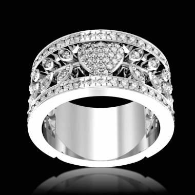 Verlobungsring mit Diamanten in Weissgold Flowers of Love