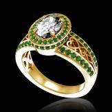 Verlobungsring mit Diamant in Weissgold Tsarine