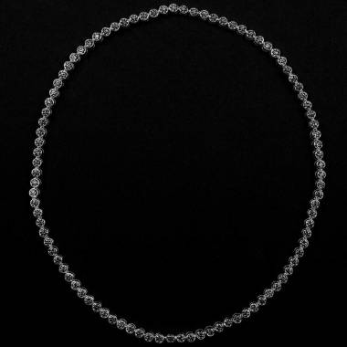 Schwarze Diamantkette Perle de diamants