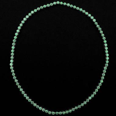 Smaragdkette Perle de diamants