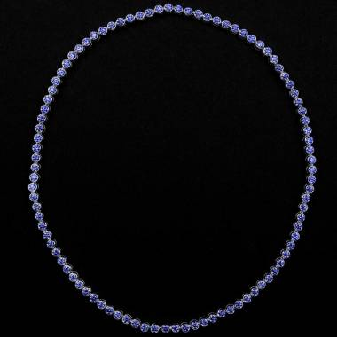 Blaue Saphirkette Perle de diamants