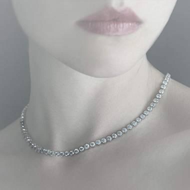 Blaue Saphirkette Perle de diamants
