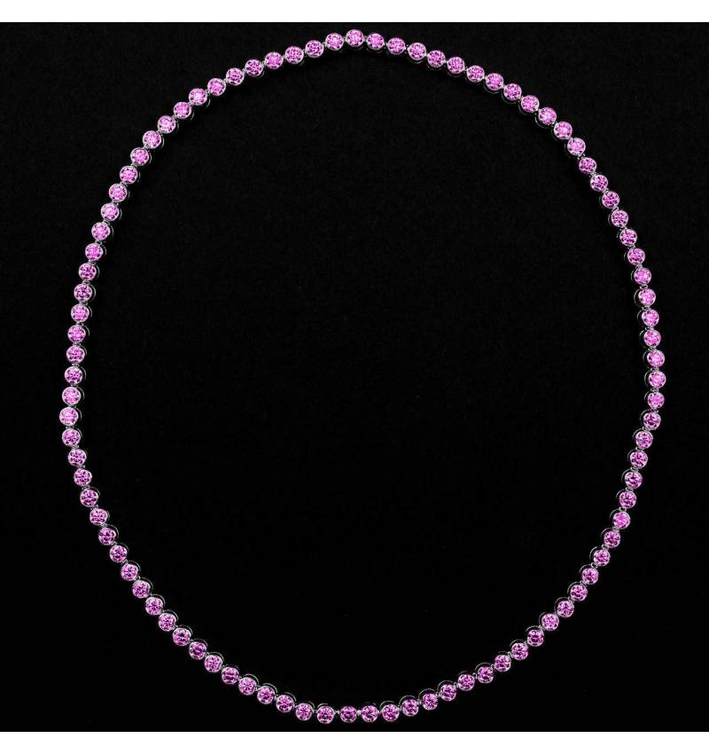 Rosa Saphirkette Perle de diamants