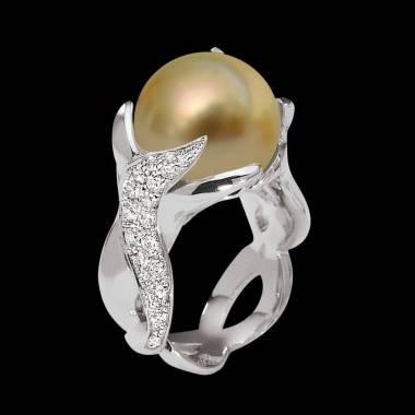 Goldener Perlenring Naïade