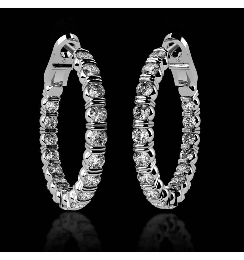 Diamantohrringe Créoles Inside
