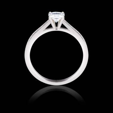 Verlobungsring in Weissgold mit Diamantverzierung Elodie