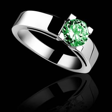 Smaragdring in Weissgold Céline