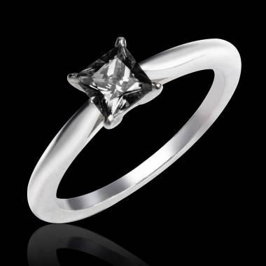 Schwarzer Diamantsolitär in Weissgold My Love