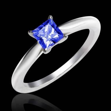 Blauer Saphirsolitärring in Weissgold My Love