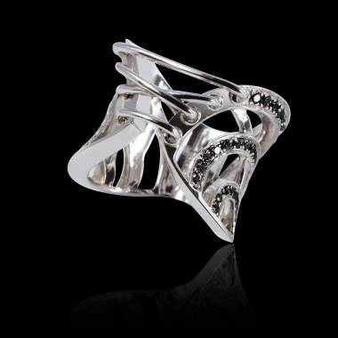 Schwarzer Diamantring Guêpière