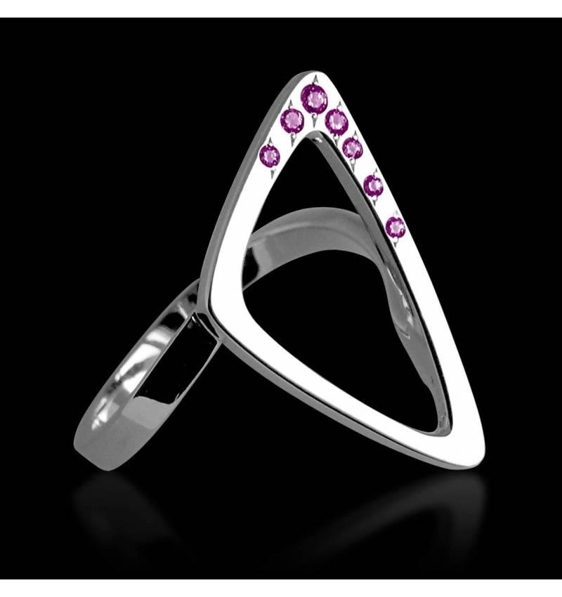 Rosa Saphirring Triangle