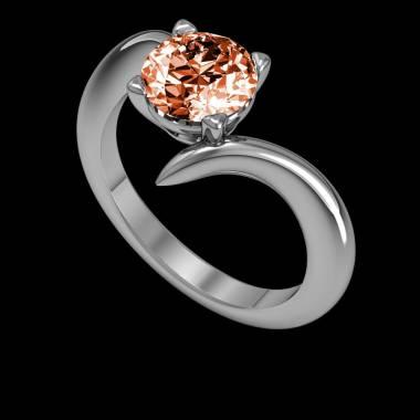 Verlobungsring mit Rubin in Weissgold Serpentine