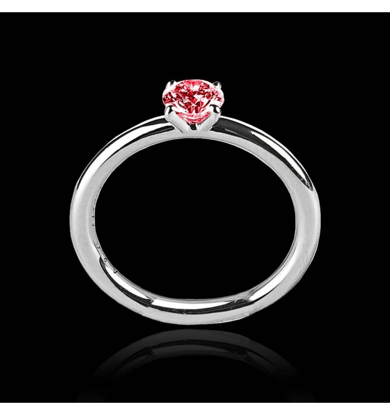 Solitaire rubis or blanc Anja