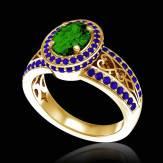 Verlobungsring mit Smaragd in Weissgold Tsarine