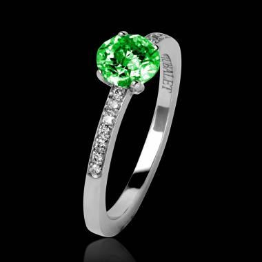 Verlobungsring mit Smaragd in Weissgold Judith