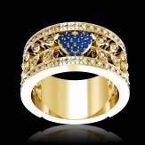 Verlobungsring mit blauem Saphir in Weissgold Flowers of Love