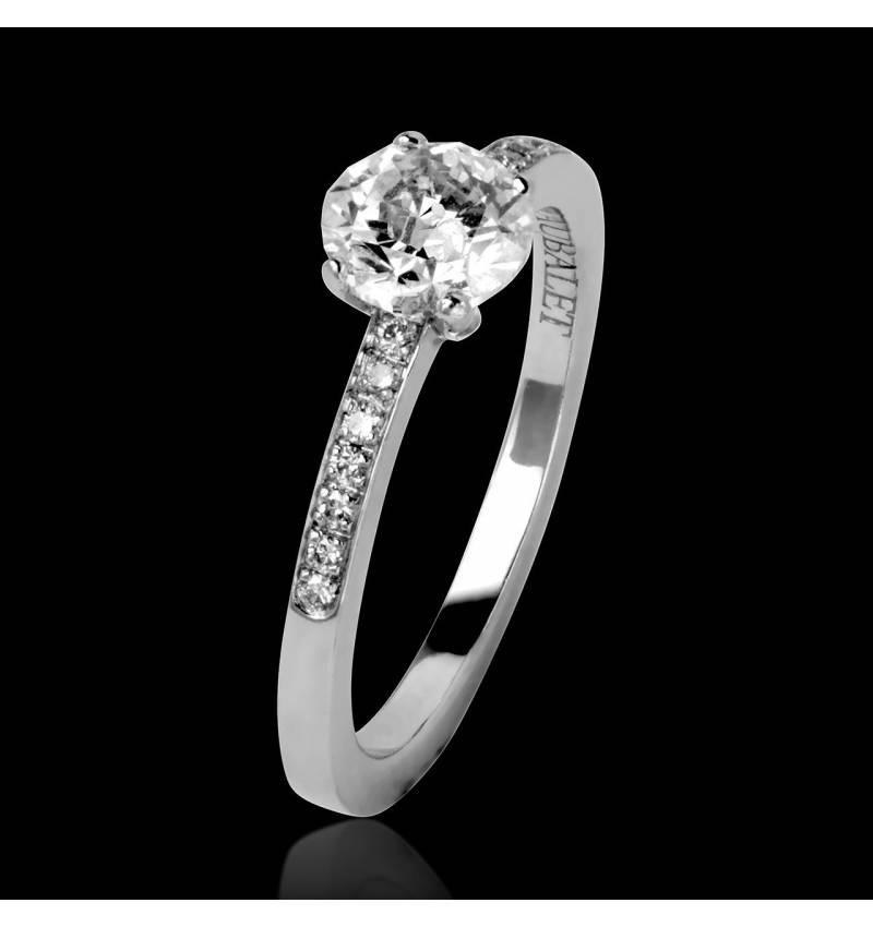 Verlobungsring mit Diamant in Weissgold Judith