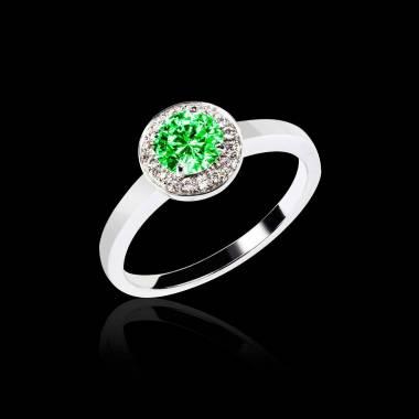 Smaragdring in Weissgold Rekha Solo