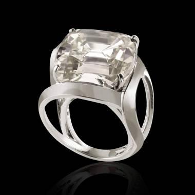 Diamantsolitärring in Weissgold Future Solo