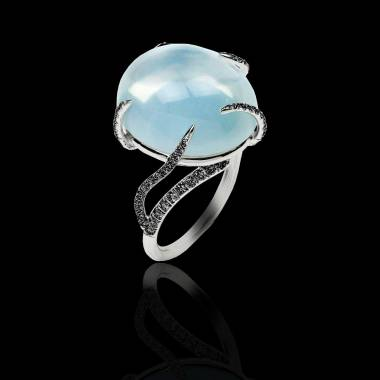 Diamantring Pierre de Lune