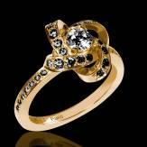 Schwarzer Diamantring Chloé