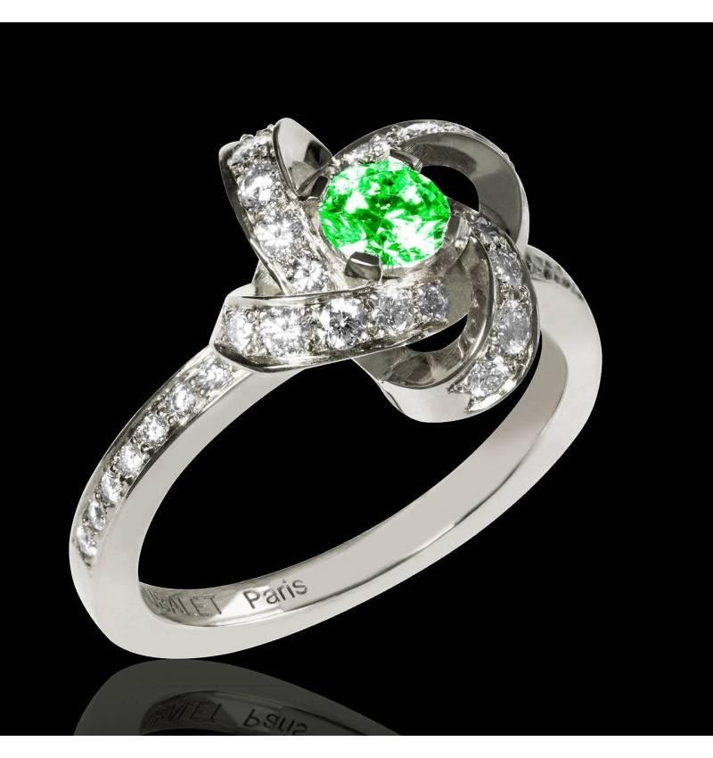 Verlobungsring mit Smaragd Chloé