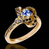 Blauer Saphirring Chloé