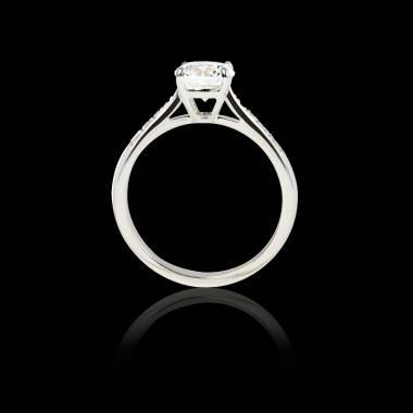 Verlobungsring mit Diamant in Weissgold Angela