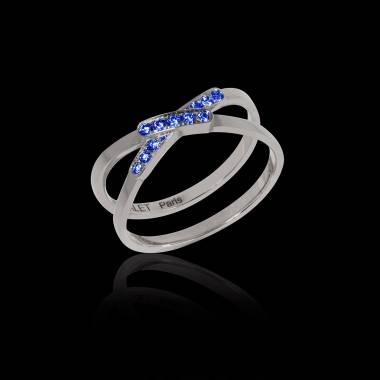Blauer Saphirring Tifene