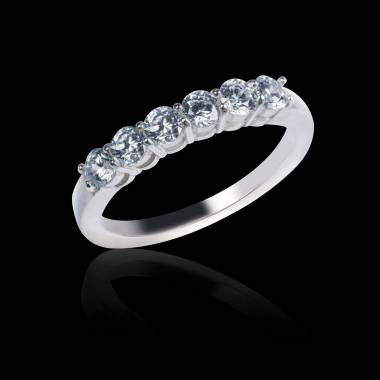 Trauring in Weissgold mit Diamanten Cassiopa