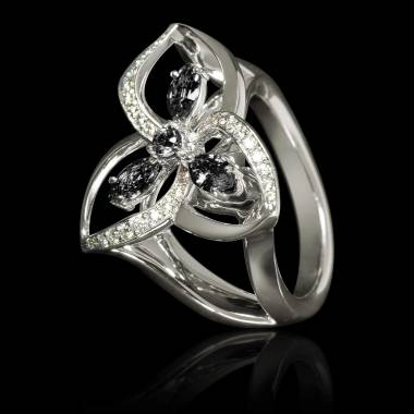 Schwarzer Diamantring Estelle