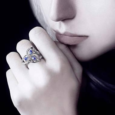 Blauer Saphirring Estelle