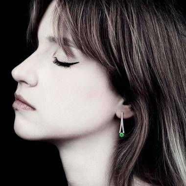 Smaragdohrringe Plena Luna