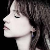 Blaue Saphirohrringe Plena Luna