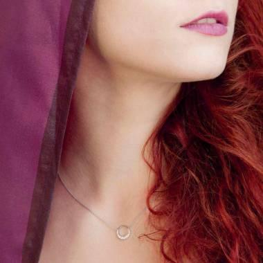 Rosa Saphiranhänger Clair de Lune