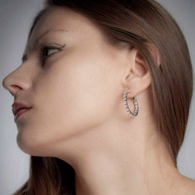 Diamantohrringe Créoles