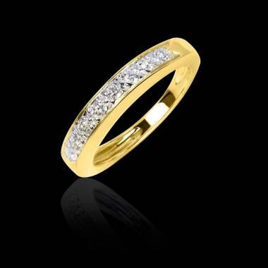 Trauring in Gelbgold mit Diamanten Deliciae