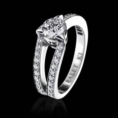 Verlobungsring mit Diamant in Weissgold Plena Luna