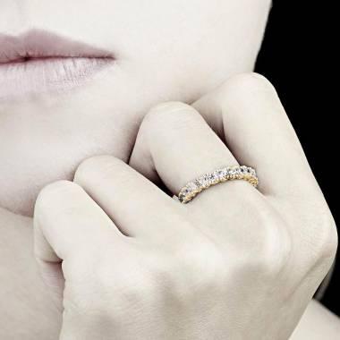 Trauring in Gelbgold mit Diamanten Jupiter