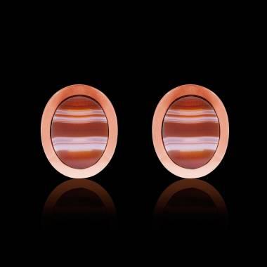 Rosévergoldete Manschettenknöpfe chevalière Ovalis Achat