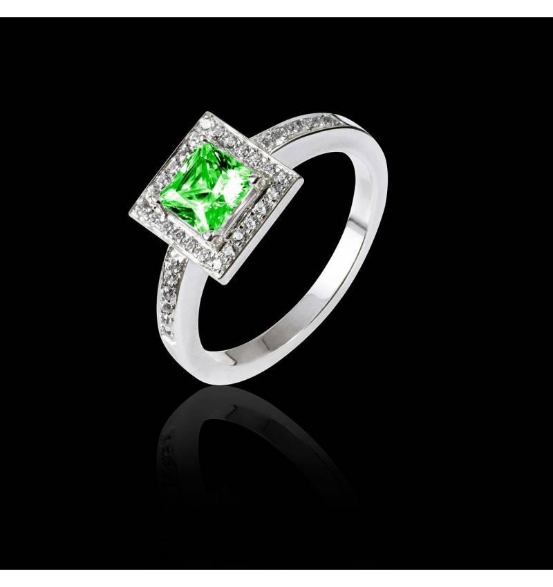 Verlobungsring mit Smaragd Perrine