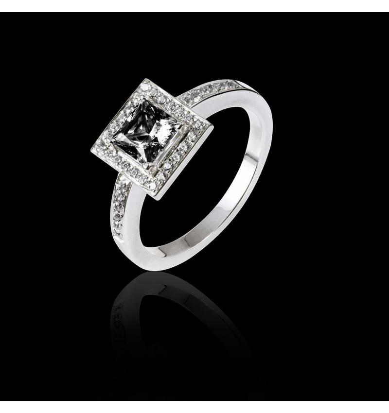 Verlobungsring mit schwarzem Diamant Perrine