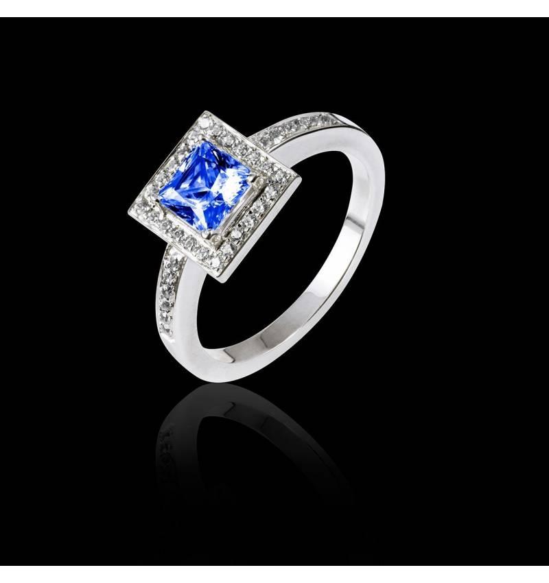 Verlobungsring mit blauem Saphir Perrine