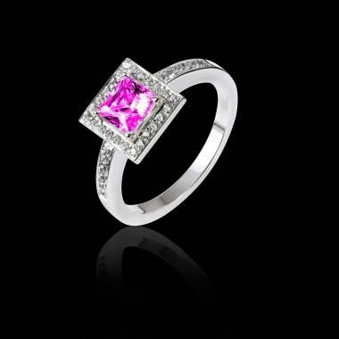 Verlobungsring mit rosa Saphir Perrine