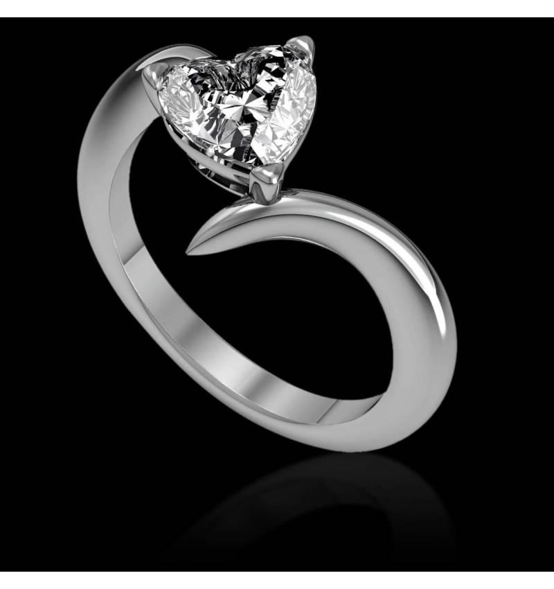 Verlobungsring mit Herzdiamant Serpentine