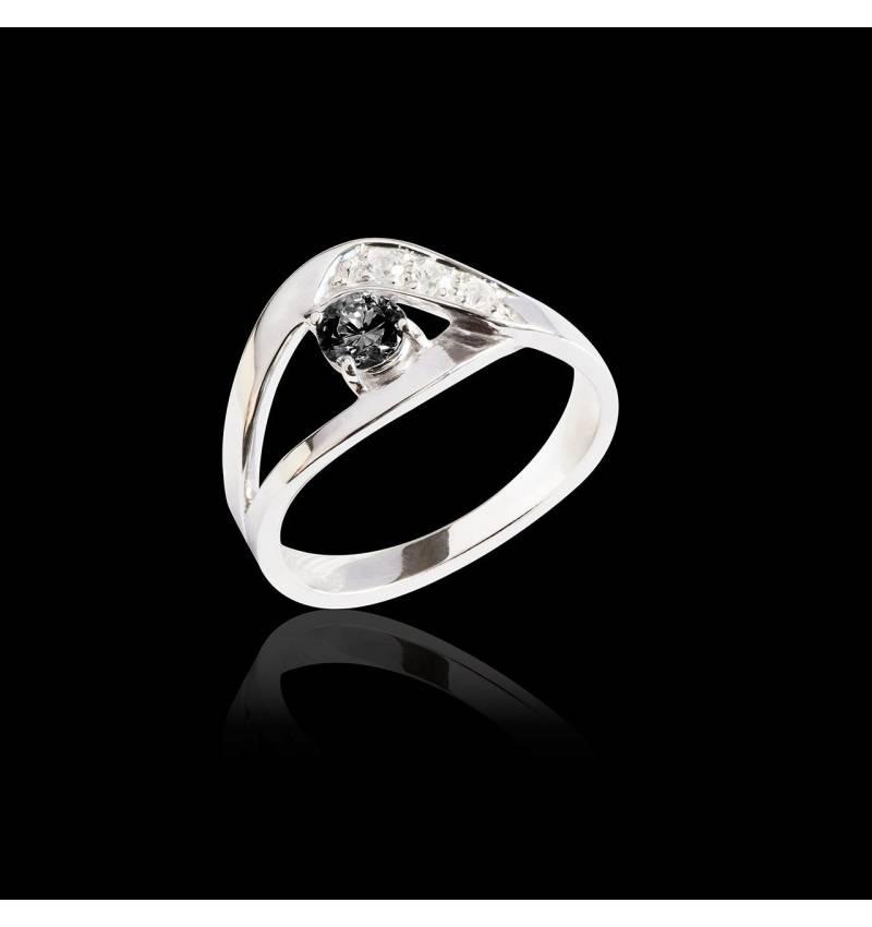 Verlobungsring mit schwarzem Diamant Anaelle