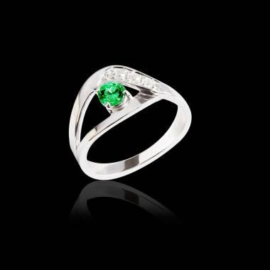 Verlobungsring mit Smaragd Anaelle