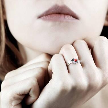 Verlobungsring mit Rubin Anaelle