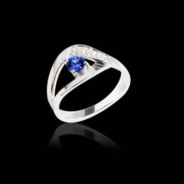 Verlobungsring mit blauem Saphir Anaelle